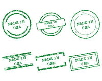 Made in USA stamps Royalty Free Stock Photos