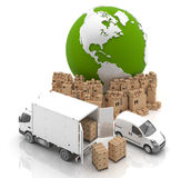 Made in USA. Transportation. Vehicles for the transport of goods Stock Image
