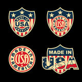 Made in USA. Made in United States of America - set of badges and labels Royalty Free Stock Photo