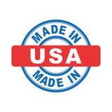 Made in USA. Vector emblem flat Stock Photography