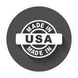 Made in USA. Vector emblem flat Stock Images