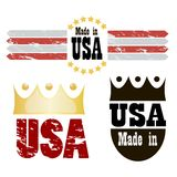 Made in USA. Vector illustration. Royalty Free Stock Images
