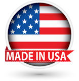 Made in the USA white label with flag, vector illustration royalty free illustration