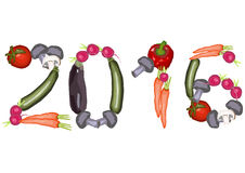 2016 made of various vegetables Stock Photo