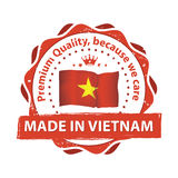 Made in Vietnam, Premium quality stamp for print Stock Images
