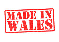 MADE IN WALES. Rubber Stamp over a white background Stock Photography