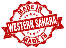 Made in Western Sahara seal Royalty Free Stock Image