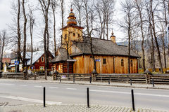 Made of wood, old church in Zakopane Royalty Free Stock Photography