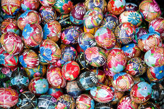 Made of wood and painted easter eggs Stock Photography