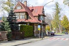 Made of wood Villa Bohdanowka in Zakopane Royalty Free Stock Image