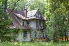 Made of wood Villa Borek in Zakopane Stock Photo