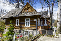 Made of wood villa Maciejowka in Zakopane Royalty Free Stock Images