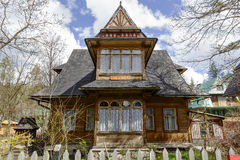 Made of wood Villa Stokrotka in Zakopane Stock Image