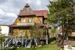 Made of wood Villa Stylowa in Zakopane Royalty Free Stock Photography