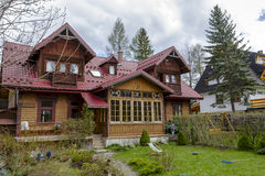 Made of wood Villa Zbyszko in Zakopane Royalty Free Stock Photo