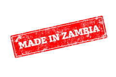 MADE IN ZAMBIA royalty free stock image