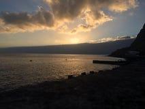 Madeiraö - solnedgång Royaltyfri Bild