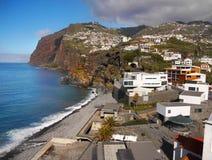 Madeiraö, sydkust, Camara de Lobos, Portugal Arkivbilder