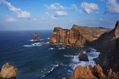 Madeira. View over the coastline of Madeira island, Portugal Stock Images
