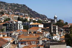 Madeira. Landscape of Funchal houses in Madeira island Royalty Free Stock Photos