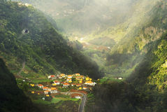 MADEIRA. Small village on Madeira island, Portugal Stock Images