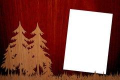 Madeira agradável no fundo de madeira com página Imagens de Stock Royalty Free