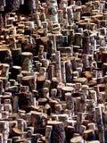 Madeira & registros desbastados fotografia de stock royalty free