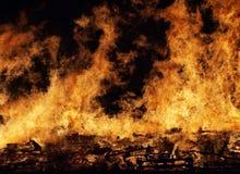 Madeira ardente Fotografia de Stock
