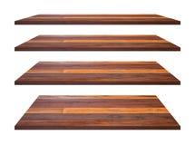 A madeira arquiva a coleção do tampo da mesa isolada no fundo branco com trajeto de grampeamento imagem de stock