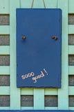 Madeira azul velha para sua cópia foto de stock