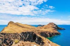 Madeira, bahía en Ponta de Sao Lourenco Imagen de archivo