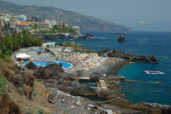 Madeira, Bathouse Lido Royalty Free Stock Photos
