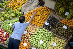Madeira - Central Market in Funchal Royalty Free Stock Photo