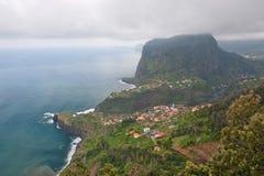 Madeira coast. Coastline on madeira island, portugal Royalty Free Stock Image