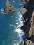 Madeira coast. Lava rock o, madeira coast Royalty Free Stock Photography