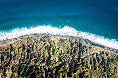 Madeira coast - cliffs in Achadas da Cruz, Portugal Royalty Free Stock Images