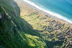 Madeira coast - cliffs in Achadas da Cruz, Portugal Royalty Free Stock Photography