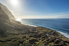 Madeira coast - cliffs in Achadas da Cruz, Portugal Royalty Free Stock Image