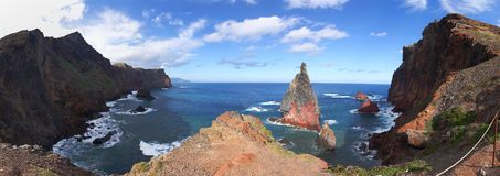 Madeira coast panorama Royalty Free Stock Photos