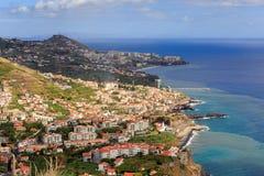 Madeira coastline city view royalty free stock image