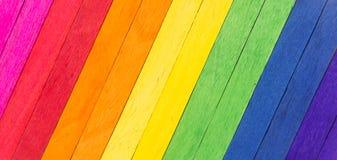 Madeira colorida como o fundo abstrato Imagem de Stock
