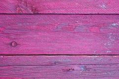 A madeira colorida embarca a forma cor-de-rosa do teste padrão Fotos de Stock
