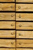 Madeira com rebites Foto de Stock