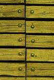 Madeira com rebites Fotografia de Stock