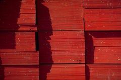 A madeira compensada termina o Close-Up Fotografia de Stock Royalty Free