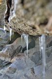 Madeira congelada da tração foto de stock