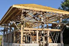 Madeira da casa de campo de Eco fotografia de stock