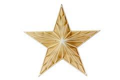 Madeira da estrela Decoração para uma casa feita da madeira Em um fundo branco Fotos de Stock Royalty Free