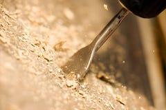 Madeira da perfuração Imagem de Stock Royalty Free