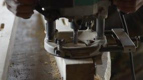 Madeira da perfuração video estoque